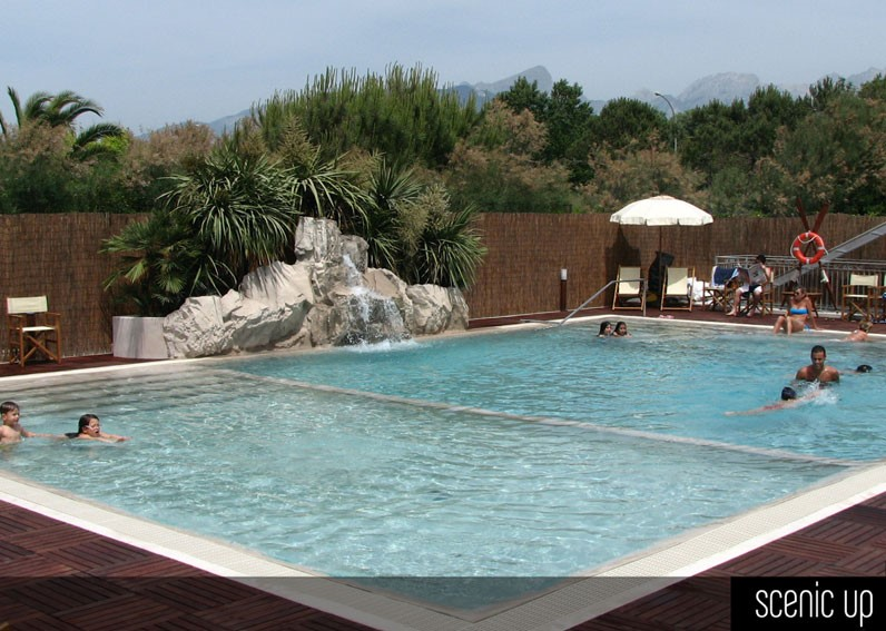 piscina in roccia artificiale