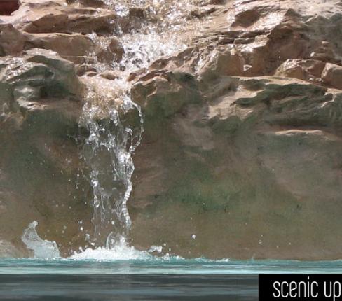 Cascate in roccia artificiale for Piscina artificiale