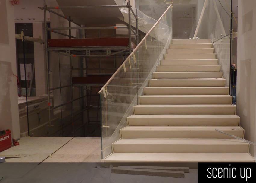 Scale interne per negozio geox milano arch dante benini for Scale milano