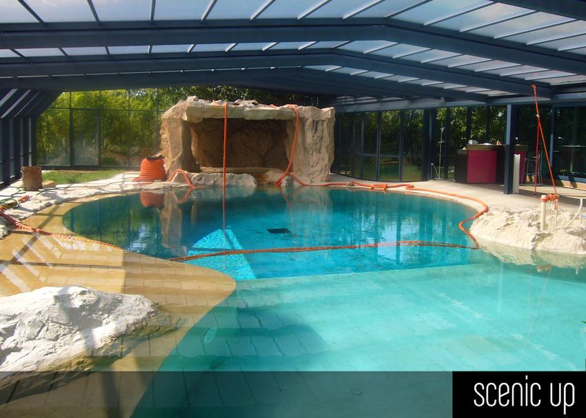 piscine elementi arredo bagno piscina m 10x20 con particolare grotta relax in roccia articiale e vasca idromassaggio