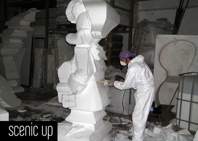 Mirabilandia statue mascotte scenic up soluzioni per for Scenografie in polistirolo